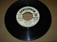 """BEATLES ticket to ride / yes it is ( rock ) 7"""" / 45 - juke box - parlophon italy"""
