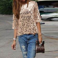 Damen-Blusen Damenblusen, - tops & -shirts mit Rundhals-Ausschnitt aus Polyester