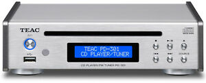 TEAC / CD Player / FM Tuner  PD301-S / Silver /  Wide FM / USB memory