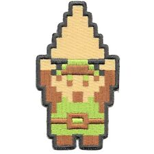 Nintendo The Legend of Zelda Link With Triforce 8Bit Embroidered Iron on Patch