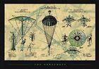The Parachute Patent 12x9 Art Print Poster Skydiving Paraphernalia Design