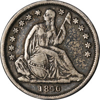 1840-O Seated Liberty Dime No Drapery Choice VF/XF Great Eye Appeal Nice Strike