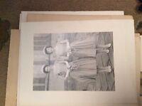 f1m 6x4inch on card  bw photograph wedding bridesmaids 1960s D