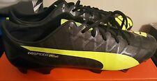 New Mens Puma EvoSpeed SL-S FG Firm Ground Black Soccer Cleats 5.3 oz Size 8.5
