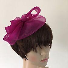 dark pink plum purple fascinator millinery burlesque wedding hat ascot bridal x