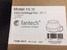 "Fantech FG 10 Inline Centrifugal Duct Fan, Metal Housing, 10"", 513 CFM, 120V"