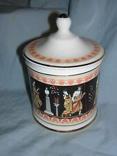 House of Fraser Bone China Covered Condiment Container # 1128 Jar Greek Style
