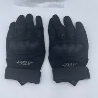 Esgls Rubber Hard Knuckle Tactical Gloves Mens Size Medium Powersports Outdoors