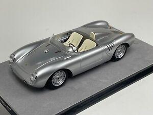 1/18 Tecnomodel Porsche 550 A Press version 1957 Silver  90 pcs   TM18-141  KK