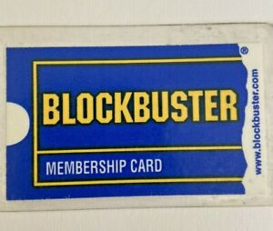 Vintage 2001 Blockbuster Video Membership Card Laminated Original Georgia