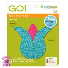 Accuquilt GO! Fabric Cutter Die Tulip Flower Quilt Sewing 55328