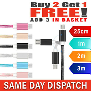 Micro USB Fast Charger Charging Cable For Amazon Samsung Huawei Sony LG OPPO