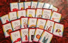 DOTTED FONT - LEARN TO WRITE- Alphabet Flash Cards lower case + capitals phonics