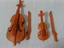 PLAYMOBIL LOTE VIOLIN Y VIOLONCHELO MUSICA BANDA ORQUESTA MUSICO VIOLON VIOLINO