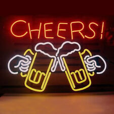 "New Cheers Cup Bar Beer Neon Light Sign 20""x16"""