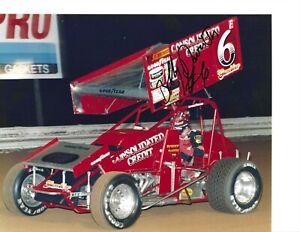 Autographed Bobby Davis, Jr. Sprint Car Racing Photograph