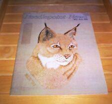 Lynx Exotic Cat Needlepoint Pattern 1982 Needlepoint News Magazine May June Oop