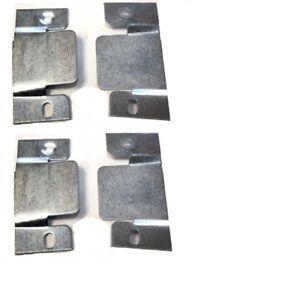 2 Heavy duty Flush Mount Headboard Hanging bolt screw wall Brackets slot slide