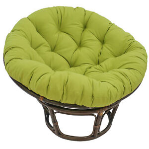 44-inch Solid Twill Papasan Cushion (Fits 42-inch Papasan Frame) - Burgundy