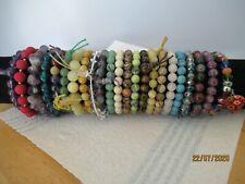Semi Precious Stone Glass Bracelets Mixed Job Lot