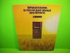 Rowe WheatStone Original NOS Coin-Op Vending Machine Promo Sale Flyer Foldout #2