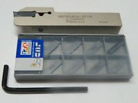 DGTR 1616 Tool Holder & 10 ISCAR Carbide Cut Parting Off Inserts DGN 2002J IC908