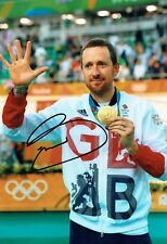 Bradley WIGGINS Signed Autograph 12x8 Olympic Gold Medal Winner Photo AFTAL COA