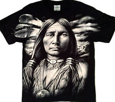 American Indian Brave LARGE PRINT Tee shirt  2 side print Large 42-44 TEE RED008