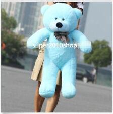 "32'' Giant Big ""Blue"" Teddy Bear Plush Doll Huge Soft 100% Cotton Toy Xmas Gifts"