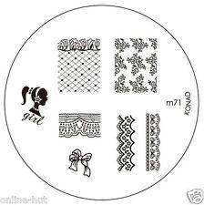 Originale Konad stamping stencil per stamping VERNICE m71