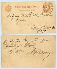 Austria 1889 Prag Praha Postal Stationery Card, H&G 26b Bohemia Listek