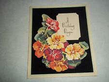 Vtg. Greeting Card - A Birthday Prayer - Christian/Religious/Unused - 1950's