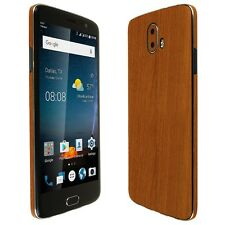 Skinomi Light Wood Skin+Clear Screen Protector for ZTE Blade V8 Pro