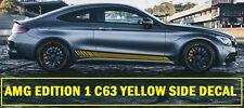 AMG Edition C63 edición 1 lado amarillo Calcomanías Pegatinas Mercedes Benz Clase C W205