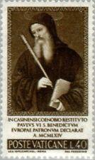 VATICAN CITY -1965- St. Benidictus - Patron of Europa - MNH Stamp - Sc. #414