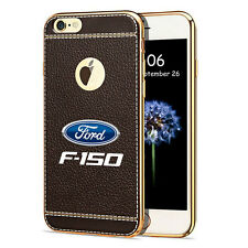 iPhone 7 Case, Ford F-150 TPU Brown Soft Leather Pattern Cell Phone Case