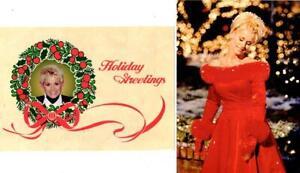 COUNTRY STAR LORRIE MORGAN FAN CLUB CHRISTMAS CARD & POSTCARD SET #1
