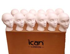 White Polystyrene female wig head  mannequin foam head hat display stand