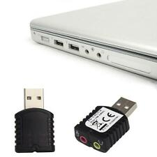 Computer Speaker Earphone Microphone Soundkarten 12Mbps USB Stereo Sound Adapter