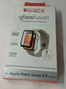 Zagg InvisibleShield GlassFusion 360 Gold 40mm Apple Watch Series 4 5 6 Screen