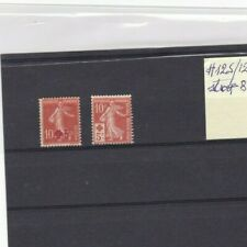 FRANCE STAMP , RED CROSS #125/126 MH , CV 35 EURO