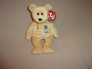 """TY MWMT TEXAS BLUEBONNET THE BEAR BEANIE BABY- 9""""- HARD TO FIND NOW- LOVELY"""