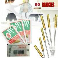 50X Needles Singer Sewing Machine Needles 2020 Size #9/11/14/16/18 Home Tools UK