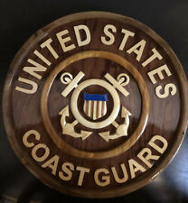 United States Coast Wooden USCG Wall Plaque Hanging Sign-Glossy Finish-Detailed