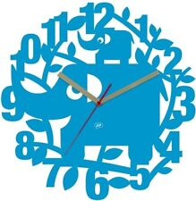 JIP Jip0766 Wanduhr Elefant Ellie Kunststoff 34 Cm blau