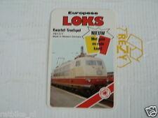 24 EK LOKS 0 DB GERMANY KLAS E 103 TRAIN TREIN KWARTET KAART, QUARTETT CARD
