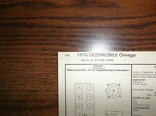 1976 Oldsmobile Omega EIGHT Series Models 350 CI V8 2BBL Tune Up Chart
