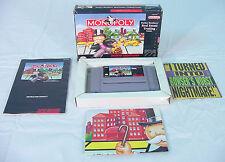 MONOPOLY (Super Nintendo, 1992) Complete~ HIGH GRADE~ SNES