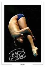 Tom Daley plongée champion du monde Autographe Signé imprimé photo
