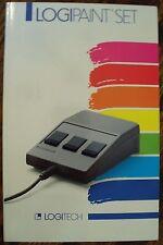 Logipaint Set Logitec 1985 PC Paintbrush Zsoft User's Guide Free US Shipping